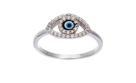 Evil Eye Ring, sterling-silver & Cubic Zirconia Evil Eye Ring ccc1495c-43db-431b-b9f4-54715e7dd1e3