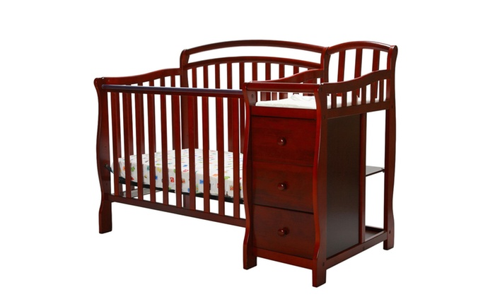 Dream On Me Casco 4 In 1 Mini Crib And Changing Table