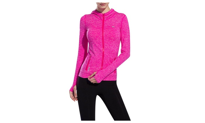 Stretchy Women's Running Sports Jackets Full Zip Activewear Coat