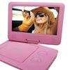 "Sylvania 9"" Portable DVD Players With 5-hour Battery (pink)"