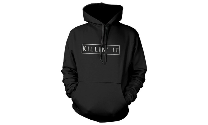 Killin' It Graphic Hoodie Hooded Sweatshirt Pullover Fleece Sweater