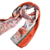 Zodaca Orange Women's Pashmina Wrap Shawl Linen Scarf Long Voile Stole
