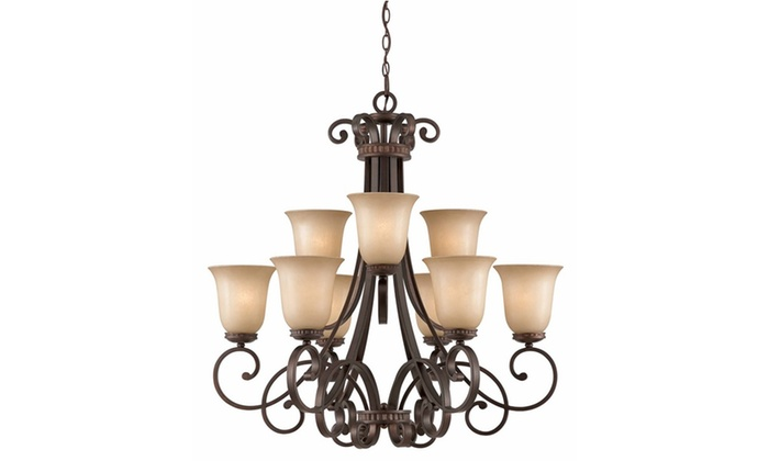 Underwood Collection 9-Light Bronze Chandelier