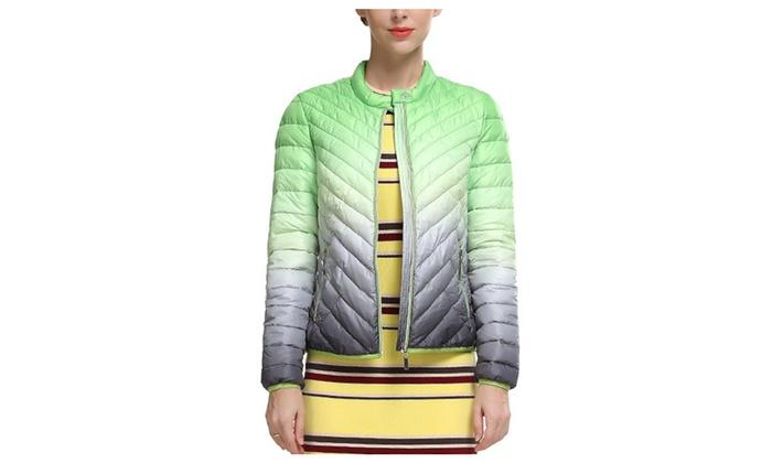 Chickle Women's Round Neck Warm Short Duck Down Coat Jacket