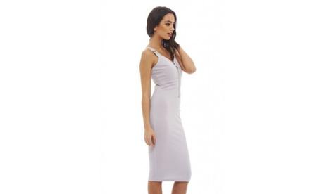 AX Paris Women's Zip Detail Sleeveles Midi Dress 5d693d72-dd98-4cab-b74a-8a5b2f50a3f0