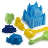 Sand Castle Bucket Tool Set 7 Pcs with Animal Molds Beach Play Set
