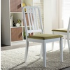 Closeout: Jasmine Mid-century Modern White/Green Fabric Dining Chair (Set of 2)