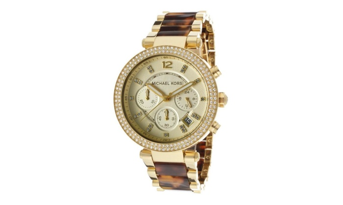Michael kors madison chronograph ladies watch mk5688 groupon for Michaels craft store watches