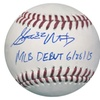 Steven Matz Autographed MLB Ball Inscribed MLB Debut 6/28/15