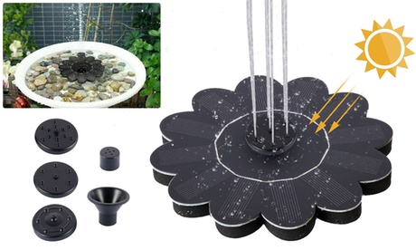 Solar Power Fountain Water Pump Floating Panel Garden Pool Plants Pond