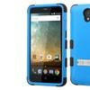 Insten Hard Hybrid Silicone Case w stand For ZTE Prestige Blue Black