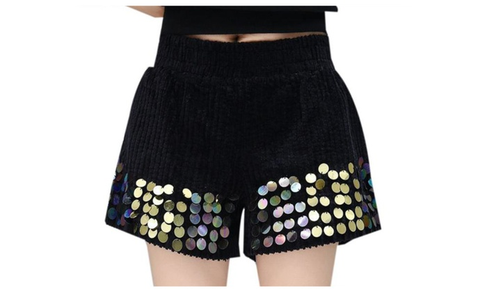 Women's Zipper Slim Fit Casual Straight Mid Rise Shorts