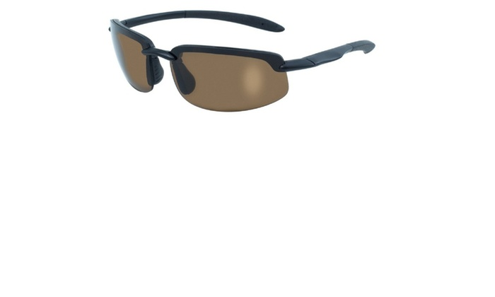 BlueWater Ty-Phoon Black Semi Frame Polarized Brown Lens