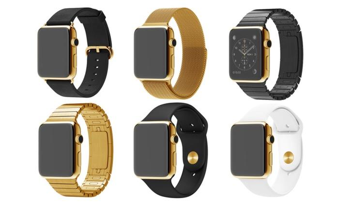 24 karat gold apple watch custom plated with 5 year warranty groupon