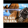 SHARK SH003 LED Quartz Digital Date Men Stainless Watch Dual Movement