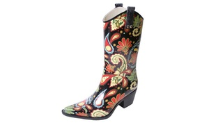 Yippy Cowboy Rubber Rain Boot