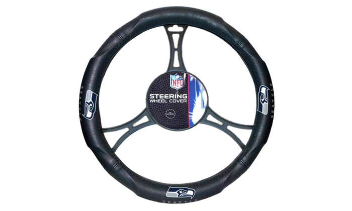 NFL 605 Seahawks Car Steering Wheel Cover