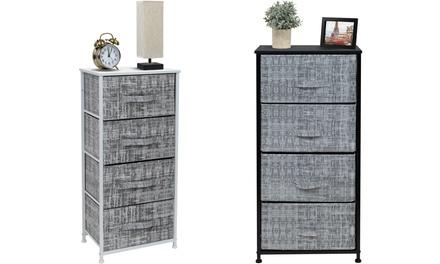 Sorbus 4 Drawers Dresser - Furniture Storage Chest Organizer Bedroom Unit - Gray