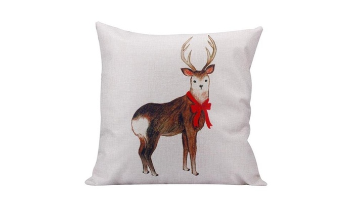 I See You Deer,Sofa Bed Home Car Decor Pillow Case,18x18,Cotton