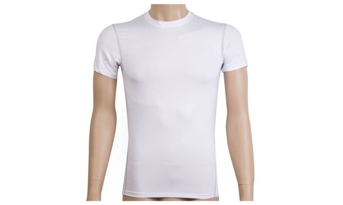 Men's Compression Base Layer Top Short Sleeve Thermal Under Tee Shirt