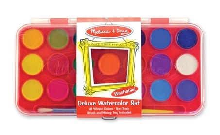 Melissa Doug Deluxe Watercolor Paint Set 21 colors 4120 c42c0cbb-00b5-40a7-8475-b1be04be2ecb