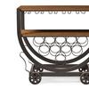 Triesta Antiqued Industrial-Style Wheeled Wine Rack Cart