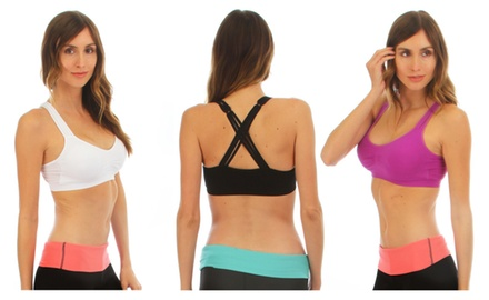 Active Wear Criss Cross Sports Bras In Assorted Colors