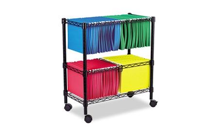 Alera Two-Tier Rolling File Cart, 26w x14d x 29-1/2h, Black d2239e26-b8dc-44b2-b253-7ab8babb19d0