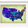 Usa Watercolor Map 5 by  NaxArt