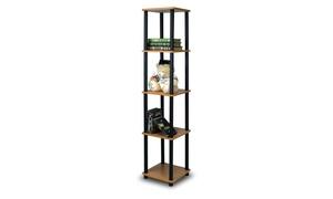 Furinno Turn-N-Tube 5-Tier Corner Square Rack Display Shelf