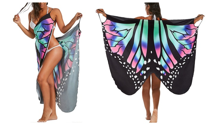 afbe6b4619b77 Butterfly Beach Wrap Cover Up Dress | Groupon