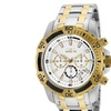 Invicta 24859 Men's 51mm Pro Diver Chronograph White Dial SS Watch