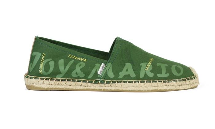 Joy & Mario Men Green Letter Slip-on Espadrille Flat Shoes