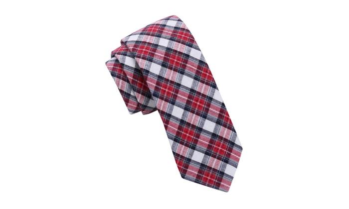Skinny Tie Madness Red Stripe Skinny tie