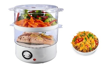 Home Kitchen 5-Quart Double-Tiered Food Steamer Auto shut-Off Timer photo