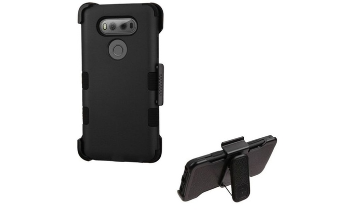 Groupon Goods: Tuff Rugged Hybrid Case Kickstand Shockproof Hard Cover Holster For LG V20