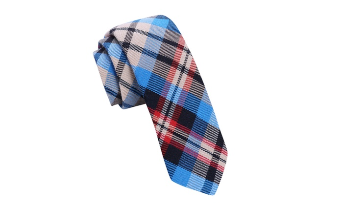 Skinny Tie Madness Men's Fat Guy in A Little Coat Grey Plaid