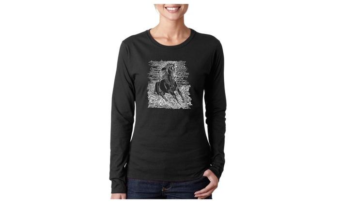 Women's Long Sleeve T-Shirt - POPULAR HORSE BREEDS