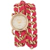 Geneva Platinum Women's Pink and Gold Chain Wrap Watch
