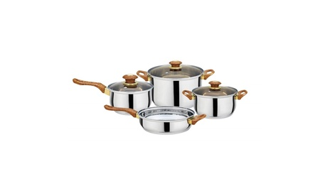 7-Piece Stainless Steel Kitchen Cookware Set, Pots and Pans