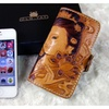 iPhone 5 Cases Hand Made and Carved Oriental Leather Wallet
