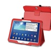 Insten Red Leather Case Stand For Samsung Galaxy Tab 3 10.1 P5200