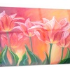 Tulips in Red Shade Floral Metal Wall Art 28x12