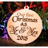Our First Christmas as Mr. & Mrs. Ornament