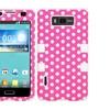 Insten Dots Pink White Hybrid Case For LG Splendor Venice Optimus