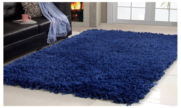 linens connection hand woven cozy shag area rug