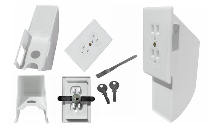 Evelots Hidden Wall Safe - Diversion Safe Outlet Safe - Hide Valuable