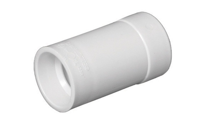 Charlotte Pipe & Found PVC00123R1200HA Hub Adapter, PVC, White