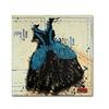 Roderick Stevens Black n Blue Swirls Canvas Print