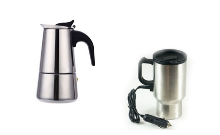 9 Cup Capacity Coffee Maker & Stainless Steel Coffee Tumbler Mug c18b4144-ed99-4625-8c32-3fd9a7df40d2